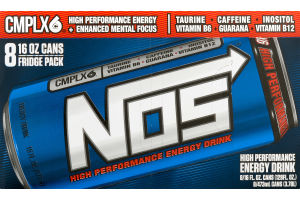 NOS High Performance Energy Drink - 8 CT