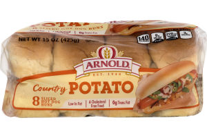 Arnold Country Sliced Hot Dog Buns - 8 CT