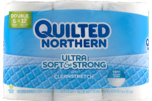 Quilted Northern Ultra Soft & Strong With Clean Stretch Unscented Bathroom Tissue - 6 CT