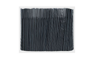 Соломка гофрированная черно-белая 21см Ø4.8мм 4HoReCa 1000шт