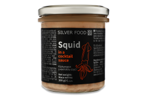 Кальмари у коктейль-соусі Silver Food с/б 300г