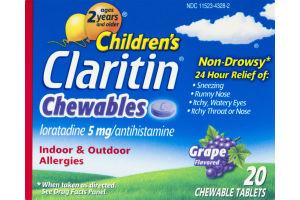 Children's Claritin Chewables Non-Drowsy Grape - 20 CT