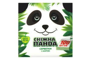 Салфетки бумажные 1-слойные Сніжна Панда 100шт