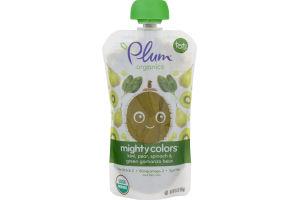 Plum Organics Mighty Colors Kiwi, Pear, Spinach & Green Garbanzo Bean