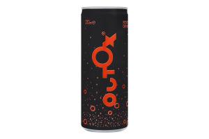 Напій безалкогольний слабогазований зі смаком червоного грейпфрута Reset Drink Outox з/б 250мл