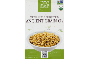 One Degree Organic Foods Veganic Sprouted Ancient Grain O's