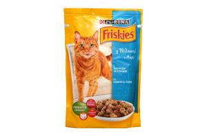 Корм для котов лосось-тунец в подливе мягкая упаковка Friskies Purina 100г