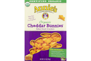 Annie's Homegrown Organic Cheddar Bunnies Baked Snack Crackers