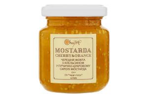 Добавка фруктовая Черешня желтая с апельсином в горчично-сахарном сиропе Мостарда Cherrytwig с/б 170г