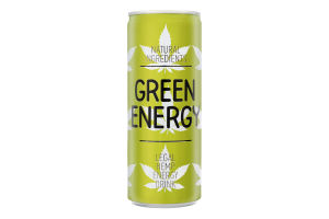 Напій безалкогольний енергетичний сильногазований Green Energy ж/б 0.25л