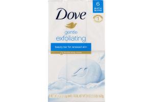 Dove Gentle Exfoliating Beauty Bar - 6 CT