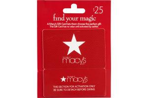 Macy's $25 Gift Card
