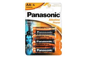Батарейка AA 1.5V LR6 №MN1500 Alkaline power Panasonic 4шт
