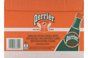 Perrier Sparkling Natural Mineral Water Pink Grapefruit Bottles - 12 CT