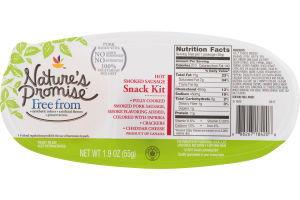 Nature's Promise Hot Smoked Sausage Snack Kit