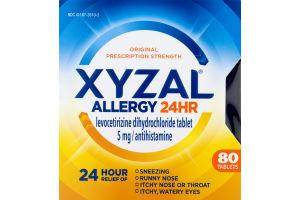 XYZAL 24 Hour Allergy Relief - 80 CT