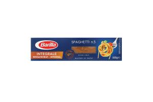 Изделия макаронные цельнозерновые Spaghettini №5 Barilla к/у 500г