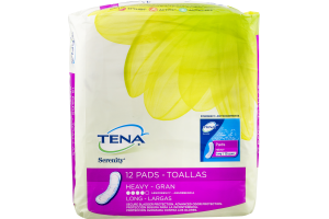 Tena Serenity Heavy Absorbency Long Pads - 12 CT