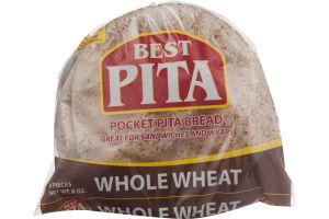 Best Pita Pocket Pita Bread Whole Wheat - 6 CT
