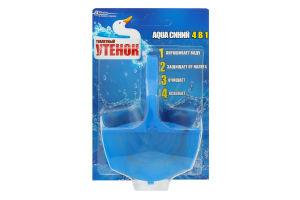 Блок д/унитаза Aqua синий тверд Туалетный утенок 40г