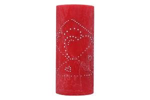 Свічка Циліндр з декором 7*15 см в асортименті 68150-DASS