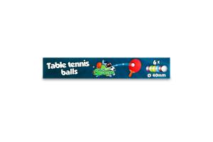 Набор мячей для игры в настольный тенис 6шт