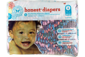 The Honest Co. Honest Diapers Butterfly Fields Size 4 - 29 CT