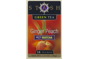 Stash Green Tea Ginger Peach with Matcha - 18 CT