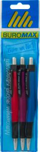 Набір з 3-х ручок автом.0,7 мм ВМ 8229-0143