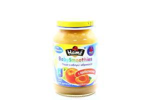 Пюре для детей от 6мес из яблок и абрикосов BabySmoothies Hame c/б 190г
