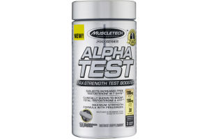 MuscleTech Alpha Test Max-Strength Test Booster Rapid-Release Capsules Dietary Supplement - 120 CT