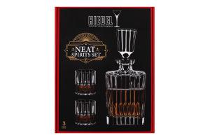 Набор для виски графин и 2 бокала Neat Spirits Set Riedel 1шт