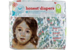 The Honest Co. Honest Diapers Tropical Frogs Size 5 - 25 CT