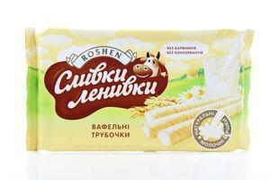 Трубочки вафельные Сливки-ленивки Roshen м/у 222г