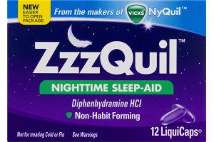ZzzQuil Nighttime Sleep-Aid LiquiCaps - 12 CT