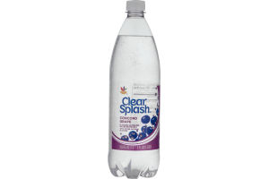 Ahold Clear Splash Sparkling Water Beverage Concord Grape