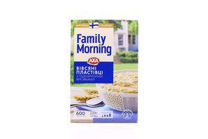 Хлопья овсяные с пшеничными отрубями Family Morning Аха к/у 600г