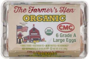 The Farmer's Hen Organic Grade A Large Eggs - 6 CT