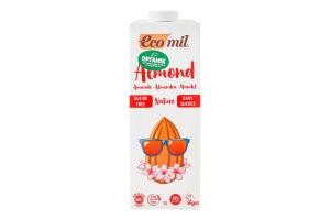 Молоко органічне з мигдалю без цукру Ecomil т/п 1л