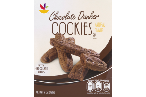 Ahold Chocolate Dunker Cookies with Chocolate Chips