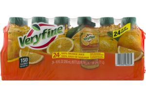 Veryfine 100% Orange Juice - 24 CT