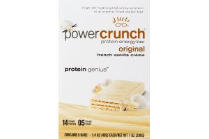 Power Crunch Protein Energy Bar Original French Vanilla Creme - 5 CT