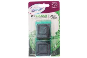 Таблетка для бачка унітазу WC Colour зелений 2х45г