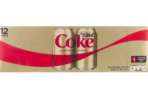Diet Coke Caffeine Free - 12 CT