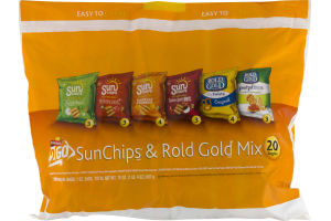 FritoLay 2 Go SunChips & Rold Gold Mix - 20 Ct