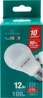 Лампа світлодіодна LED A60 12W E27 4100K Titanum 1шт