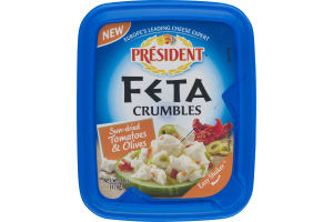 President Feta Crumbles Sun-Dried Tomatoes & Olives
