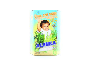 Соль для ванн детская с экстрактом морских водорослей Аленка 500г