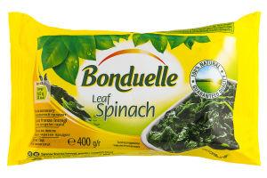 Шпинат замороженный листья Bonduelle м/у 400г