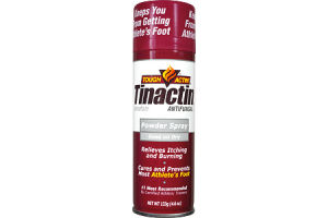 Tinactin Tough Actin' Antifungal Athelete's Powder Spray